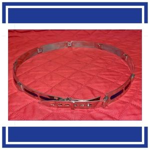 Silver and Blue Art Deco Belt Made in Italy